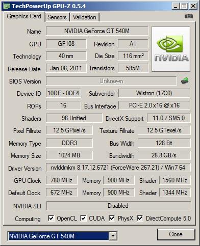 Nvidia 540m Drivers